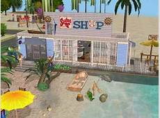 Mod The Sims Beach with Fish Shop and Restaurant D