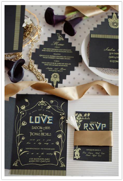 egyptian luxury wedding invitations