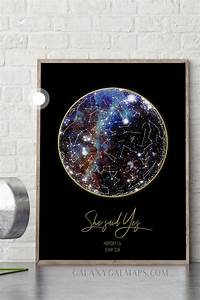 Birthday Chart Ideas Custom Star Map 8x10 Inch Maple Wood Print Of Our 2 To