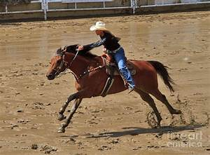 Barrel Racing At The Calgary Stampede Photograph by Louise