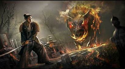 Dungeons Wallpapers Dragons Samurai Fantasy Backgrounds Desktop