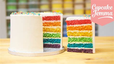 best cakes to make how to make the best ever rainbow cake cupcake jemma youtube
