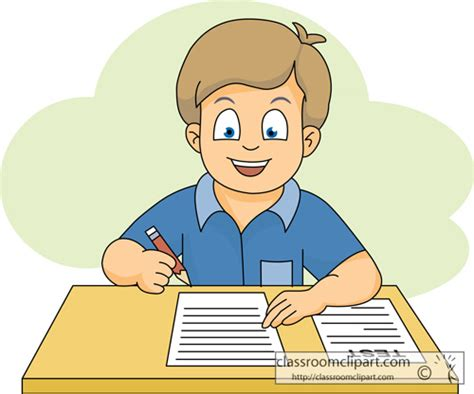 boy student working clipart school clipart student taking a test 116 classroom clipart