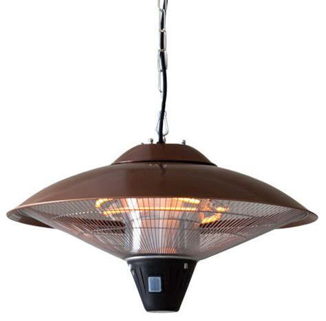 hanging copper finish halogen patio heater traditional