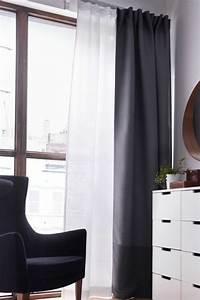 Tringle A Rideau Noir : le rideau voilage dans 41 photos ~ Mglfilm.com Idées de Décoration