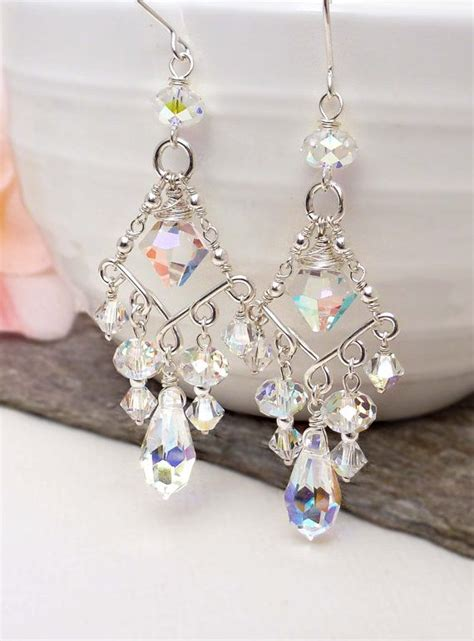 wire wrapped chandelier earrings fashionornaments
