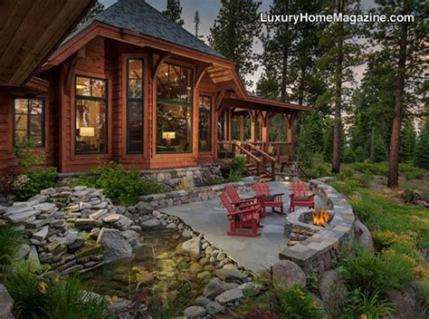 cabin landscaping ideas custom home in truckee luxury homes house backyard patio mountain living lifestyle
