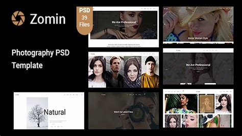 themeforest photography templates zomin photography psd template themeforest website