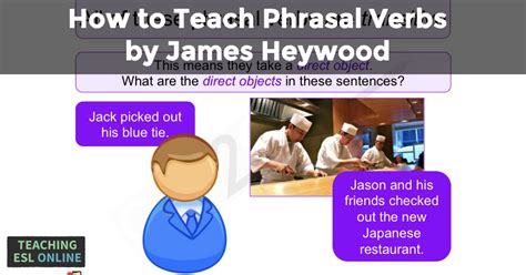 how to teach phrasal verbs by heywood teaching esl