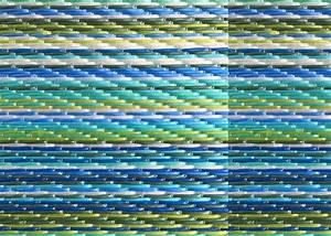 Tapis D Extérieur Plastique : tapis de jardin d grad de bleu dye weaver chez ksl living ~ Teatrodelosmanantiales.com Idées de Décoration