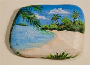 Painted Beach Rocks
