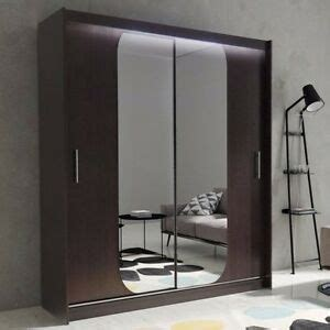 Wardrobe Hanging Mirror by Wardrobe Kola 11 180 Sliding Doors Mirror Hanging Rail