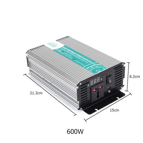 600w dc12v to ac110v 220v sine wave power inverter