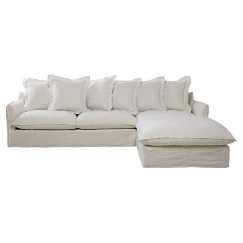 canapé de charme canapé d 39 angle 7 places en lavé blanc barcelone