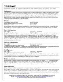 resume template for nanny nanny resume cv resume templates exles