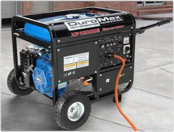 duromax xp10000e 10 000 watt hp ohv 4 cycle gas powered portable generator with wheel kit and