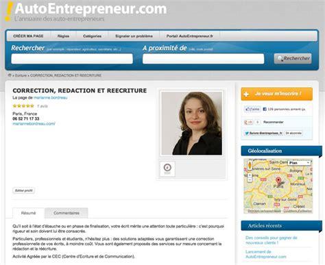 l annuaire de l auto entrepreneur autoentrepreneur fr