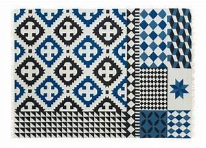 tapis kilim palermo 240 x 170 cm bleu gan With tapis kilim bleu