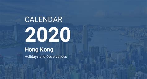 year  calendar hong kong