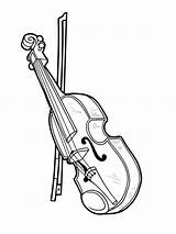 Coloring Musical Instrument Pages Violin Printable Mycoloring sketch template
