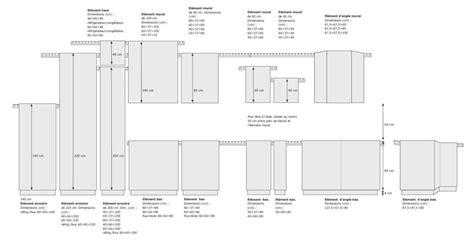 hauteur standard meuble cuisine dimensions meubles cuisine coin de la maison