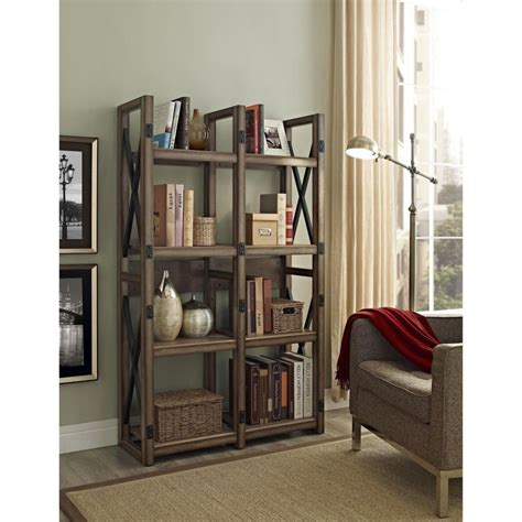 Vintage Industrial Bookcase by Vintage Industrial Bookcase Designs For Apartment