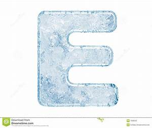 Ice font stock illustration. Illustration of macro ...