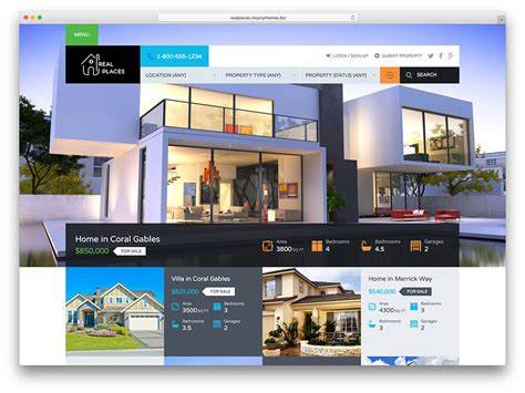 real estate website design miami jml web design