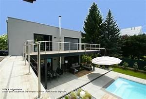 villa avec piscine projet d39architecture With faire un sauna maison 11 magnifique extension bois avec piscine interieure