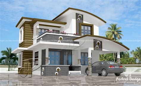 Creative Kitchen Ideas - 1560 sq ft contemporary home design kerala home design