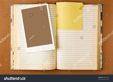 notebook html template notebook stained pages on brown stock photo 48693055