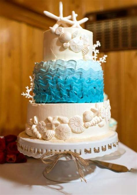 Sun, Sea And Sugar Beachthemed Wedding Cakes