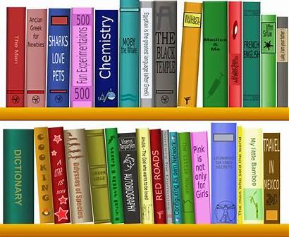 Shelf Books Clipart Many Vector Domain Save