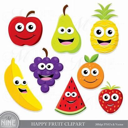 Clipart Fruit Happy Clip Healthy Downloads Scrapbook
