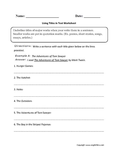 quotation marks and italics worksheet livinghealthybulletin