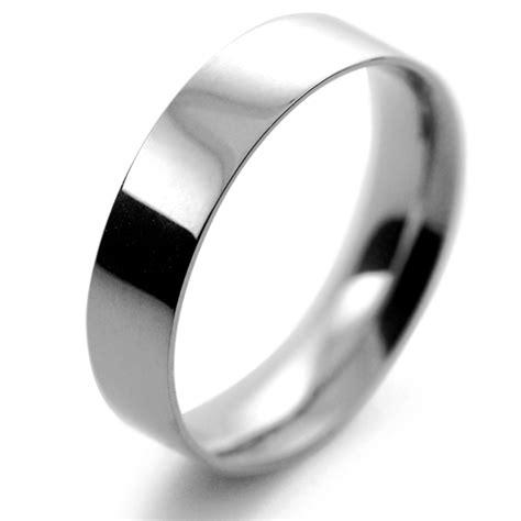 palladium wedding ring flat court light 5mm fcsl5pal