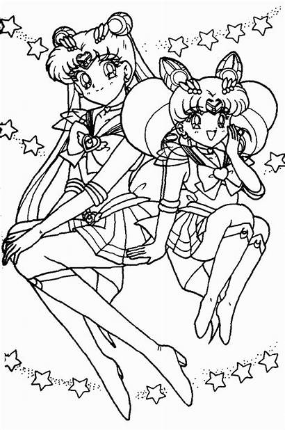 Sailor Moon Pages Coloring Printable Anime Friends