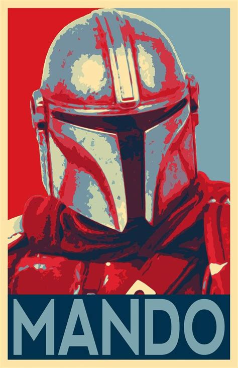 The Mandalorian Star Wars Pop Art Illustration Din Djarin ...