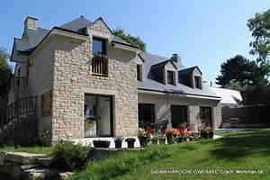 Travaux de maçonnerie en pierre naturelle (moëllon d'Elven) Campagne Façade Rennes par