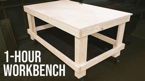 hour workbench outfeed table woodworking diy