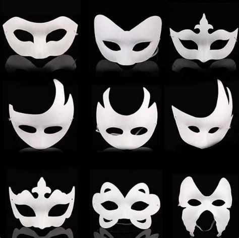 blank white masquerade mask kids adults masquerade mardi