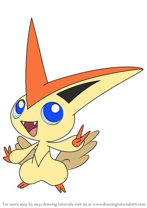 learn   draw victini  pokemon pokemon step