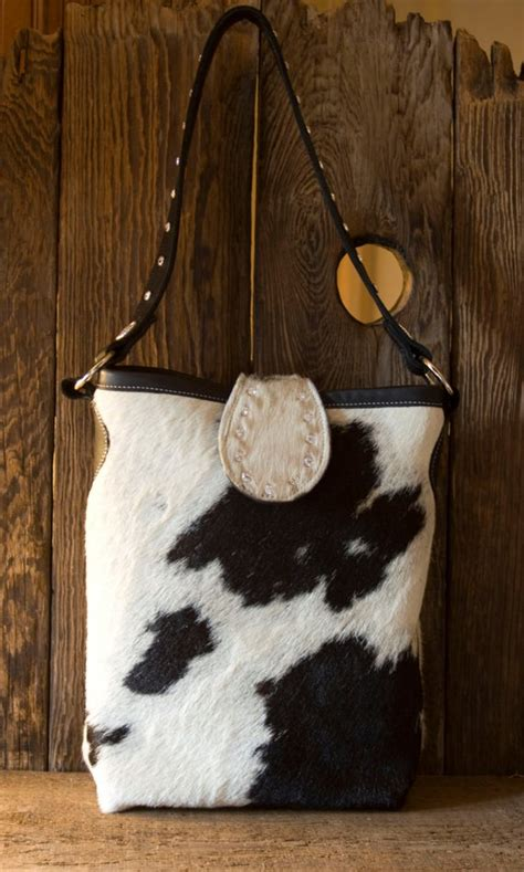 Hair On Cowhide Purse by Black And White Cowhide Handbag With Swarovski Crystals