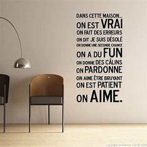 stickers deco mural stickoo With dessin de belle maison 8 citation de la bonne cuisine stickers muraux decoration de