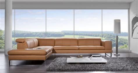 canapé cuir contemporain design canapé d 39 angle contemporain appuis tête intègrés 5 places