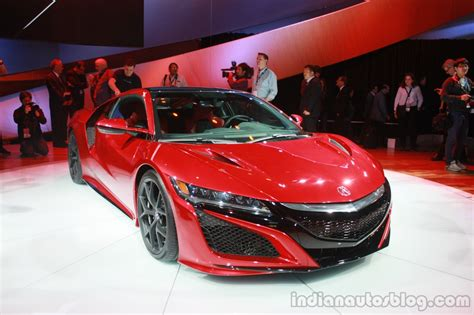 new acura nsx front quarter at the 2015 detroit auto show
