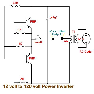 Simple Volt Inverter Circuit Diagram