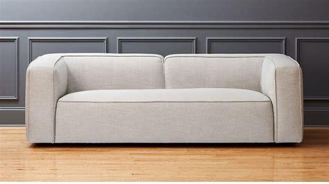 Cb2 Loveseat by Lenyx Light Grey Overstuffed Sofa Cb2