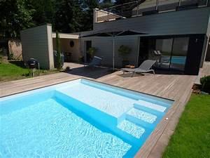 lescalier sur mesure par lesprit piscine escalier sur With hauteur marche piscine beton
