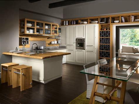 cucina componibile  penisola living veranda lottocento